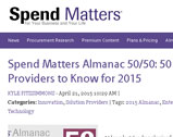 Spend Matters Almanac 50/50: 50 Providers to Know for 2015