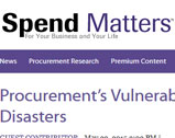 Procurement's Vulnerability to Natural Disasters