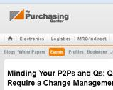 Minding Your P2Ps and Qs: Quality P2P Programs Require a Change Management Focus