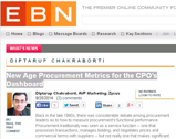 EBN Online: New Age Procurement Metrics for the CPO's Dashboard