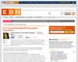 EBN Online: Do P-Cards Really Benefit Procurement Executives?