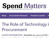 Spend Matters: The Role of Technology in Green Procurement