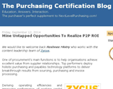 The Purchasing Certification Blog: Mine Untapped Opportunities To Realize P2P ROI