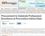 Procurement to Celebrate Professional Excellence at ProcureCon Indirect East