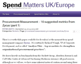 Spend Matters: Procurement Measurement – 10 suggested metrics from Zycus