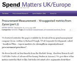 Spend Matters: Procurement Measurement – 10 suggested metrics from Zycus (part 2)