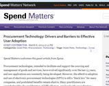 Procurement Technology: Drivers and Barriers to Effective User Adoption