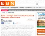 EBN Online: Zycus & Michigan State U. Launch Procurement Technology Adoption Study