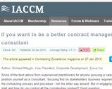 If you want to be a better contract manager think like a consultant
