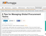 5 Tips for Managing Global Procurement Teams