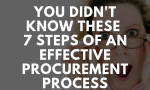 You Didn't Know these 7 Steps of an Effective Procurement Process
