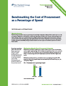 Benchmarking the Cost of Procurement as a Percentage of Spend