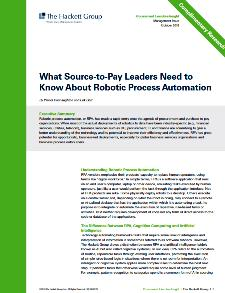 RPA - What source to pay leaders need to know about robotic process automation?