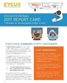 Account Payables Report Card: Survey Findings