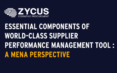 Essential Components of a World-Class Supplier Performance Management Tool : A MENA Perspective