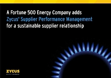 A Fortune 500 Energy Company adds Zycus' Supplier Performance Management solution