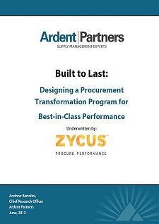 Built To Last Part 1: Procurement Transformation