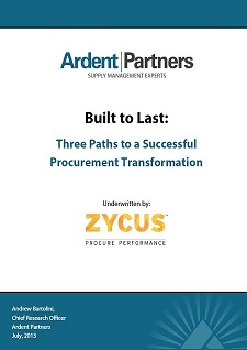 Built To Last - Part 2: Three Paths to a Successful Procurement Transformation