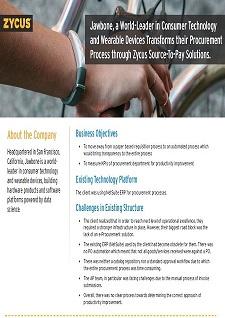 Zycus P2P Implementation Case Study - Jawbone