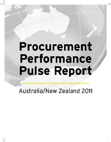 Procurement Performance Pulse Report - Australia/New Zealand 2011