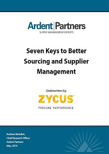 Seven Keys to Better Sourcing and Supplier Management