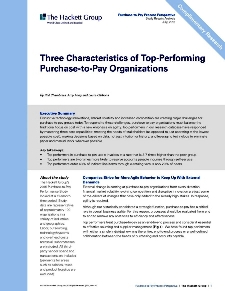 Three Characteristics of Top-Performing Purchase-to-Pay Organizations