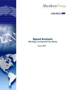 Aberdeen's Spend Analysis Benchmark Study 2007