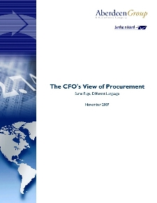 The CFO's view of Procurement: Same Page, Different Language - Benchmark Report