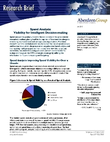 Spend Analysis: Visibility for Intelligent decision-making - Benchmark Report