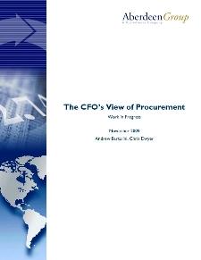 The CFO's view of Procurement: Work in Progress - Benchmark Report