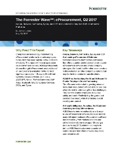 The Forrester Wave™: eProcurement, Q2 2017 - Zycus Named a Leader
