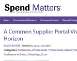 Spend Matters:  A Common Supplier Portal Vision at Zycus Horizon