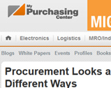 My Purchasing Center: Procurement Looks at Spend in New and Different Ways