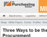 My Purchasing Center: Three Ways to be the Steve Jobs of Procurement