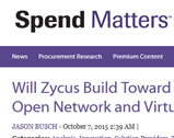 Spend Matters: Will Zycus Build Toward a PaaS Vision, Open Network and Virtualized Suite?
