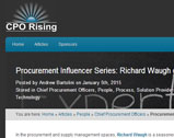 Procurement Influencer Series: Richard Waugh of Zycus