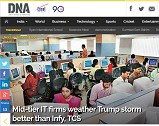 Mid-tier IT firms weather Trump storm better than Infy, TCS
