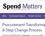 Spend Matters: Procurement Transformation using Kotter's 8-Step Change Process