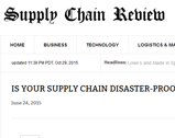 Supply chain review: Is Your Supply Chain Disaster-Proof?