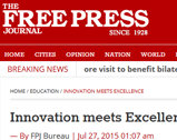 The free press journal: Innovation meets Excellence