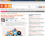 EBN Online: Wise Words: Thought Leaders Share Best Procurement Knowledge