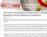 NC State University Blog: How Does Procurement Create Value? Insights from CPO Speakers at Zycus Horizons Conference