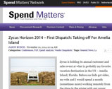 Spend Matters: Zycus Horizon 2014 – First Dispatch: Taking off For Amelia Island